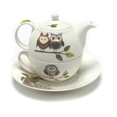 roy kirkham rspb woodland owl tea for one teapot cup