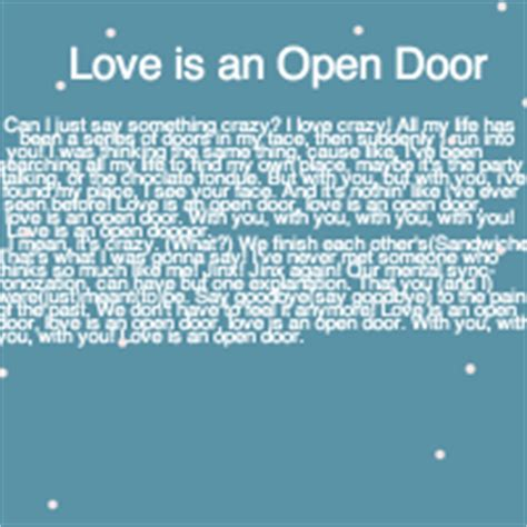 Lyrics Let Open The Door by Quot Is An Open Door Quot Lyrics Computer Programming