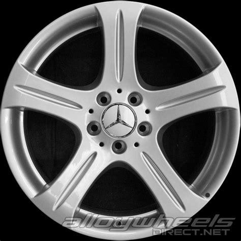 mercedes alloys 18 quot mercedes 5 spoke wheels in titanium silver alloy