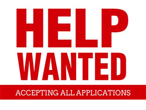 Help Wanted Sign Printable