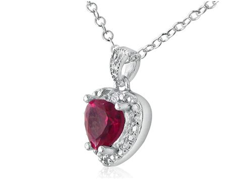 Ruby 3 1ct 1ct shaped ruby pendant