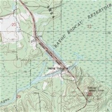 map louisiana dams bayou bodcau dam louisiana bodcau lake usgs topographic
