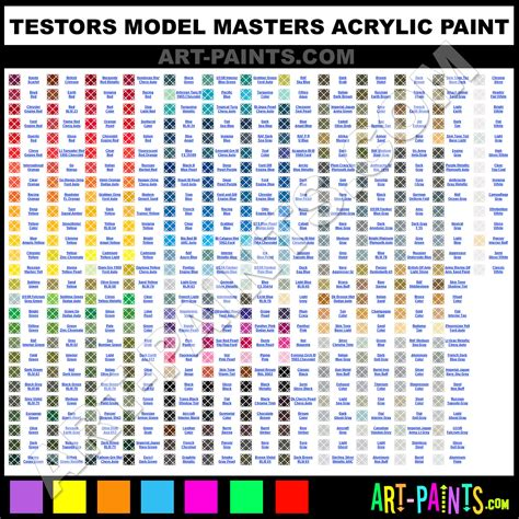 alfa img showing gt testors model master paint chart