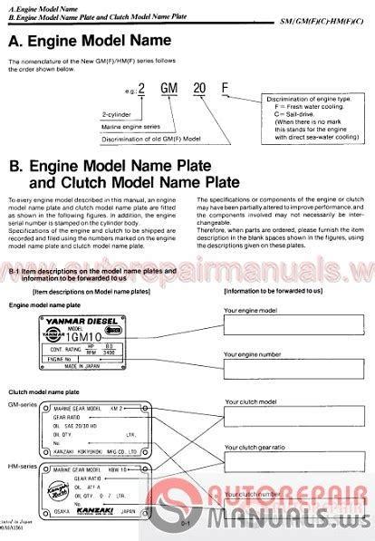 auto repair manuals yanmar full shop manual dvd