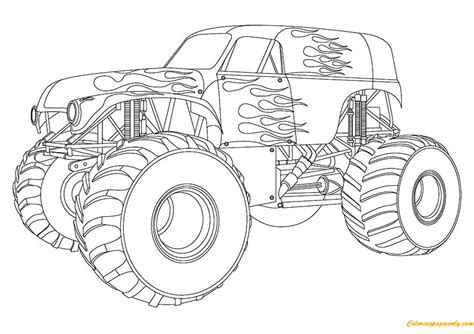 Max D Coloring Pages by Design Maximum Truck Coloring Page