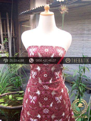 Kain Batik Cap Follisima 006 kain batik cap tulis jogja motif kupu anggur maroon unique indonesia batik fabric pattern