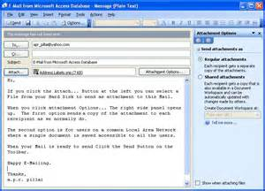 emails and alerts learn ms access tips and tricks