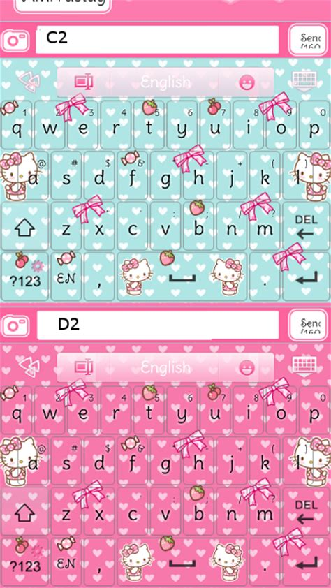 Hello Kitty Themes Keyboard | hello kitty strawberry go keyboard skins android themes