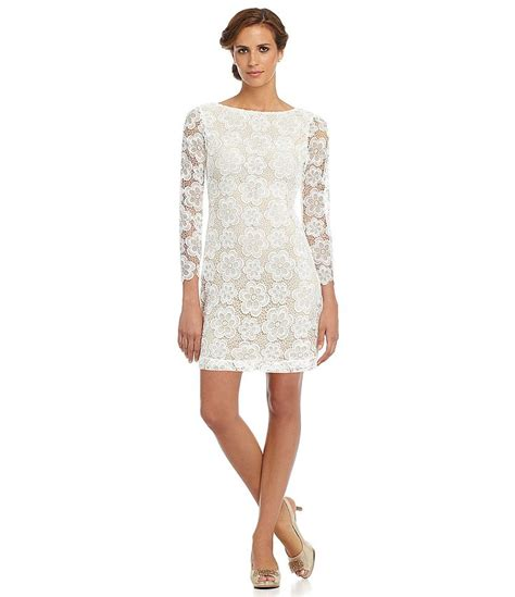 White Lace Sleeved Dress sleeve lace dress dressed up
