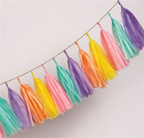 How To Make Decorations Out Of Tissue Paper - 120pcs lot 14 inch tissue paper tassel garland paper