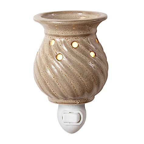 spiral ceramic plug in night light wax warmer bed bath