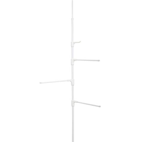 zenith bathtub and shower pole caddy zenith products tub and shower towel pole caddy white