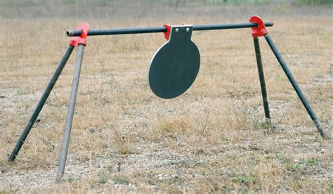 diy steel target stand hanging target w pipe stand firearms freedom shooting gears and target