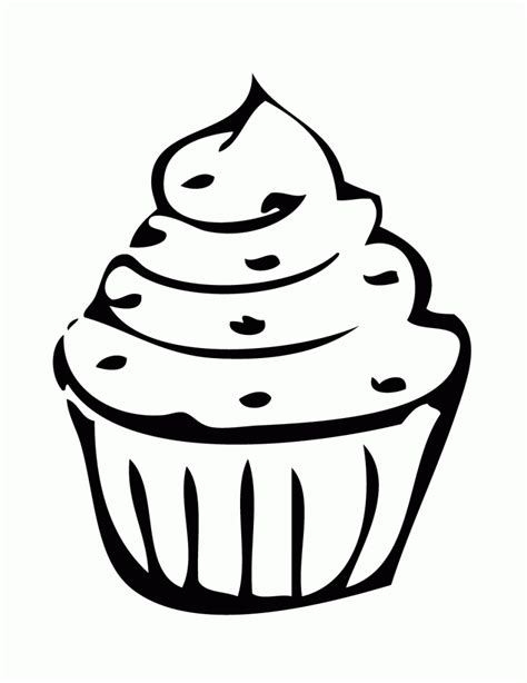 birthday cupcake coloring coloring pages