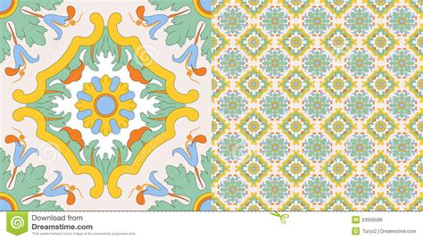seamless tile decoration   sicilian style royalty