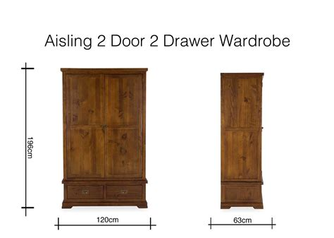 Solid Two Door Two Drawer Wardrobe Aisling Ez Living