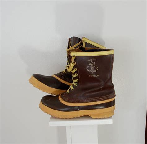 vintage sorel boots made in canada mens sz 8