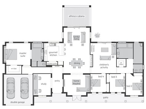 home designs acreage qld bronte act floorplans mcdonald jones homes