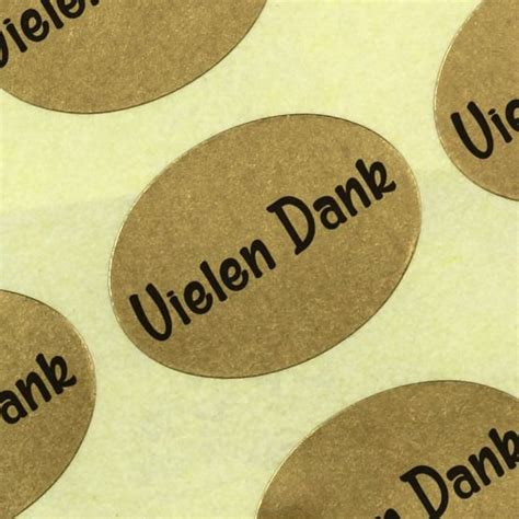 Etiketten Rolle Gold by Etiketten Aufkleber Vielen Dank Gold Blumen Haftpapier