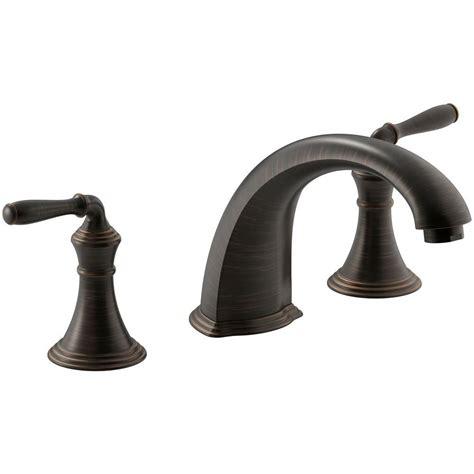 Faucet Colors by Kohler Devonshire 2 Handle Deck And Rim Mount Roman Tub
