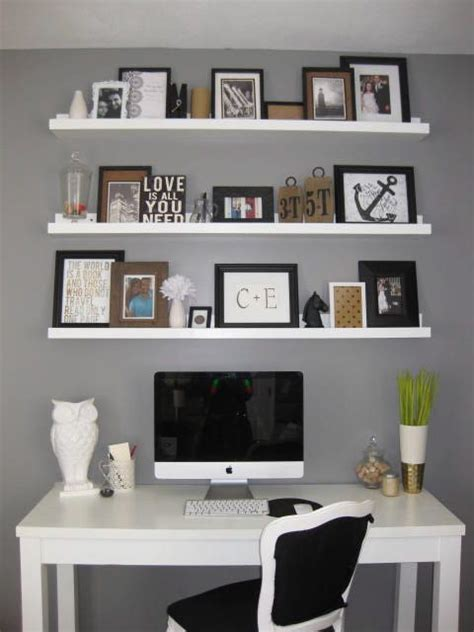 above desk shelving unit love the shelves to the ceiling above a desk diy shelves