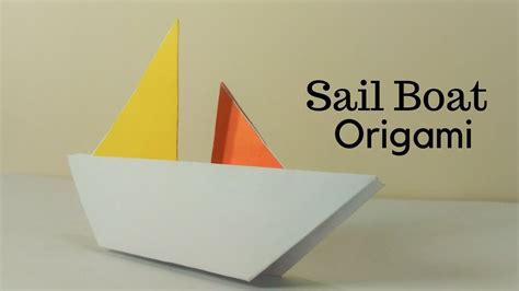 Origami Sail Boat - origami sailboat sail boat origami how to