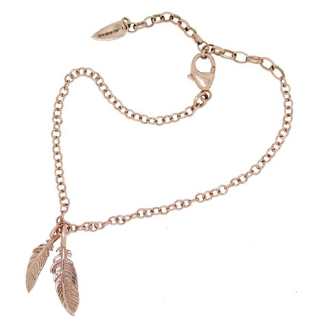 feather bracelet 9 ct gold william cheshire