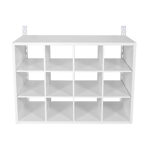 shoe storage lowes shop rubbermaid homefree white wood shoe cubbie at lowes