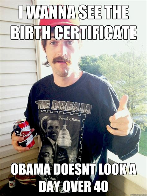 Bush Doesnt See The Humor by I Wanna See The Birth Certificate Obama Doesnt Look A Day