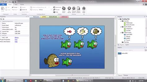 construct 2 free tutorial create a feeding fish frenzy game with construct 2