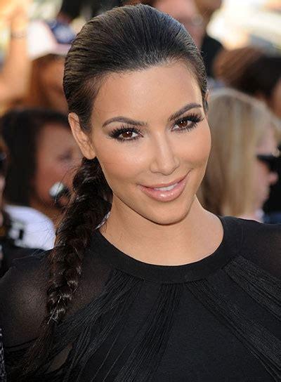 braided hairstyles kim kardashian celebrity diy glam hair styles