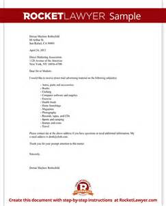 direct mail advertising request letter with sample