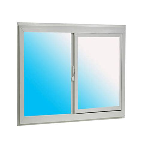 ips 32 quot wide white vinyl single sliding basement window at