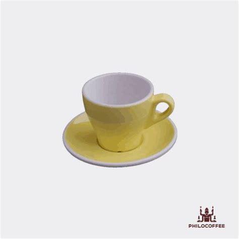 Cangkir Coffee philocoffee cangkir tulip cappuccino kuning 6oz philocoffee