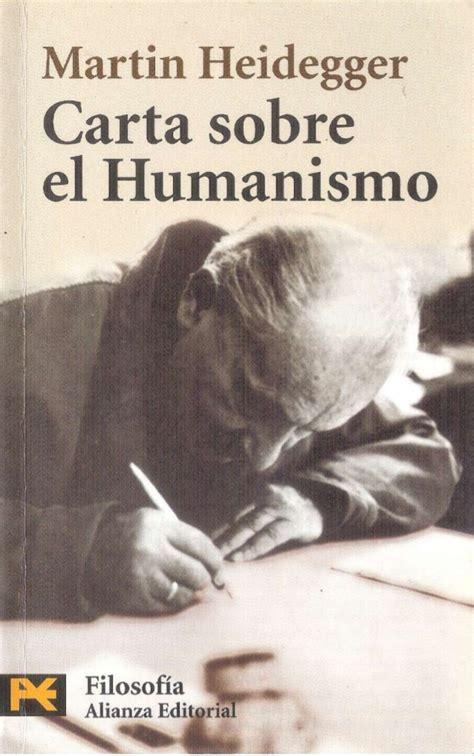 carta sobre el humanismo de heiddeger