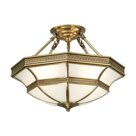 interiors 1900 balfour 4 light semi flush ceiling fitting