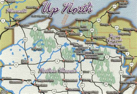 Wis Search Northern Wisconsin Map Images Search