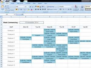 daily rota template staff roster template daily work roster template excel