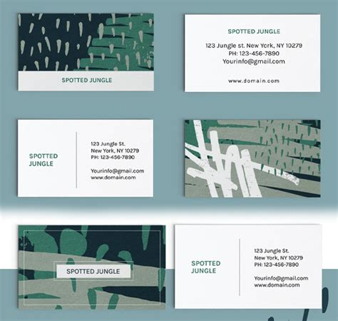 Collage Business Card Template by Business Cards Psd Templates Design Graphic