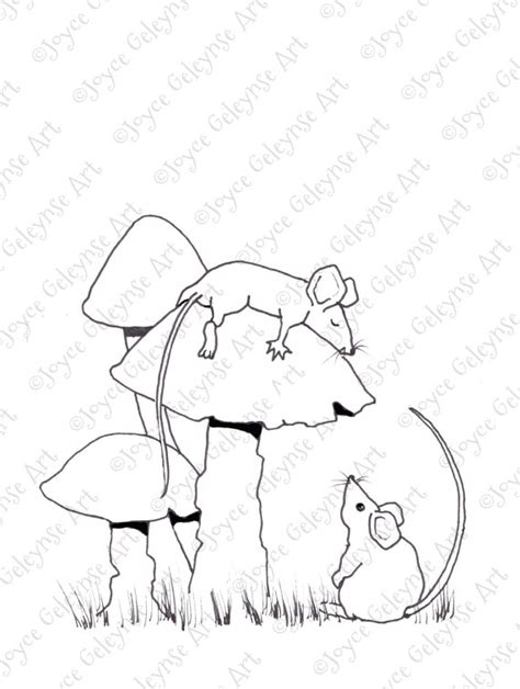 sleeping mouse coloring page sleeping mouse coloring for adults mice on toadstools