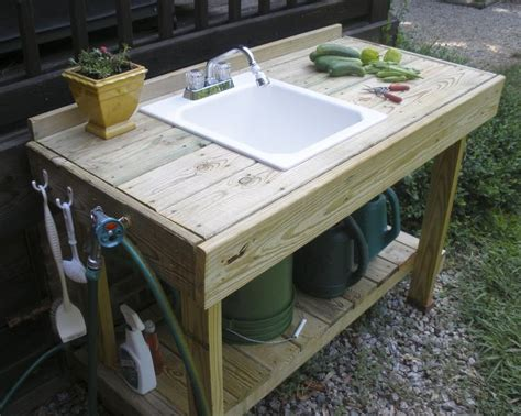 garden bench with sink 25 best ideas about outside sink on pinterest garage