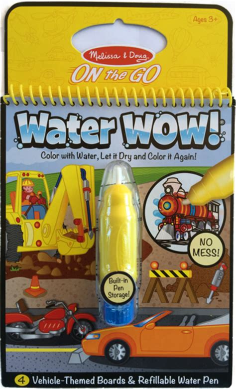 Water Wow Vwhicle item 310 doug water wow coloring book vehicles black s ship store