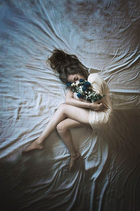 girl lying bed with flowers 190 best girl woman with flowers images on pinterest