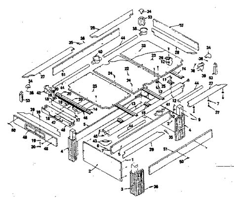 pool table parts diagram sears sherbrooke ii 8 ft slate home pool table parts