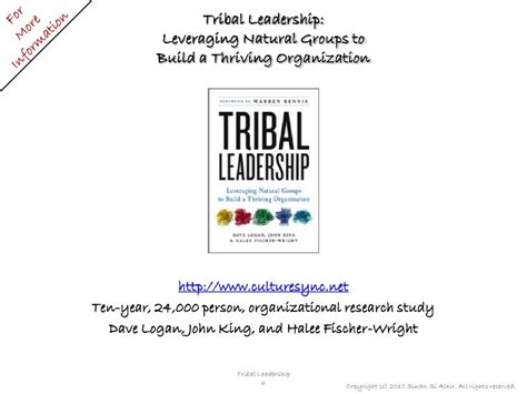 book summary tribal leadership leveraging natural groups to build tribal leadership 1 of 4 tribes and tribal leaders