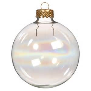 glass iridescent ornaments 60mm