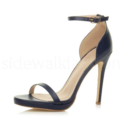 strappy high heels womens high heel barely there strappy peep