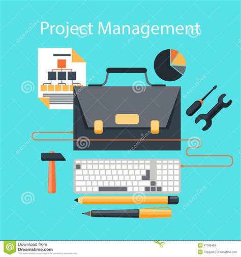 Portfolio Management Mba Project Free by Project Management Flat Design Concept Stock Vector