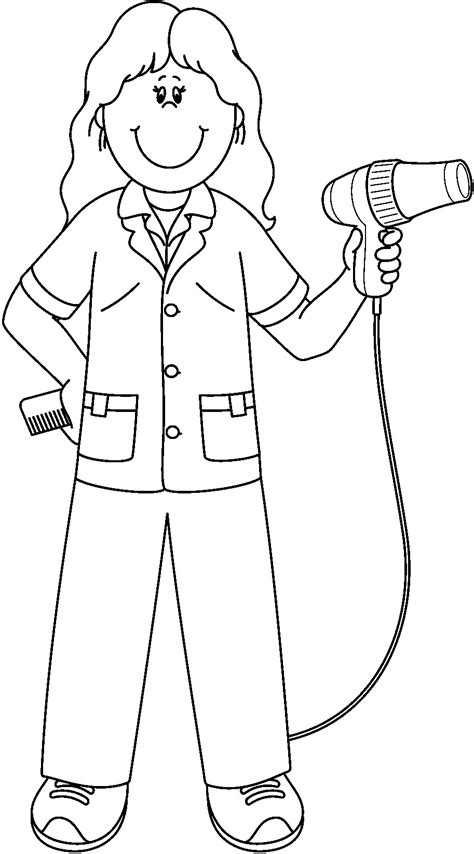 preschool coloring pages community helpers community workers hats coloring pages