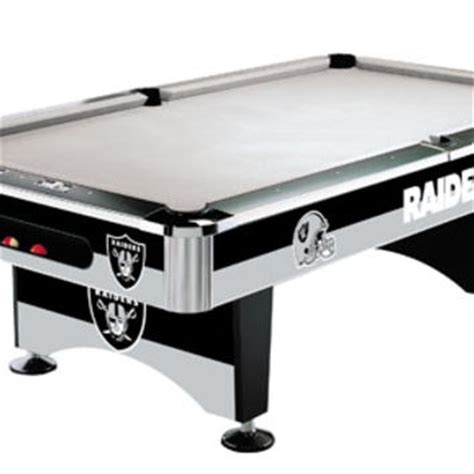 oakland raiders slate pool table from serenity health home